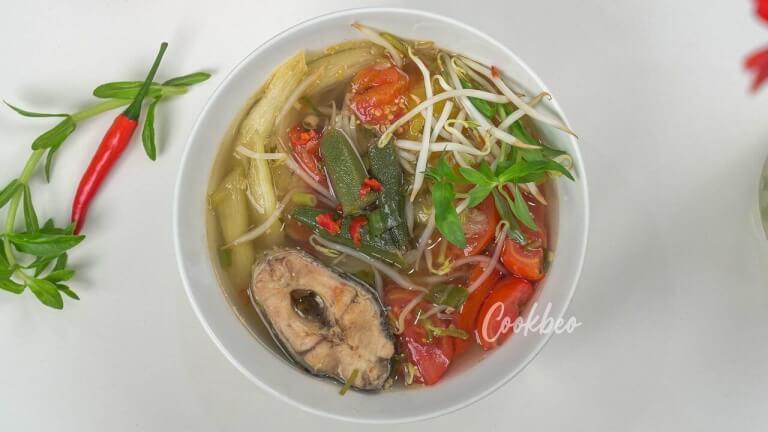 thành phẩm món canh chua cá lóc