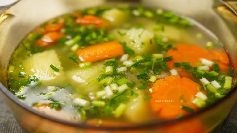 cách nấu canh khoai tây cà rốt hầm xương