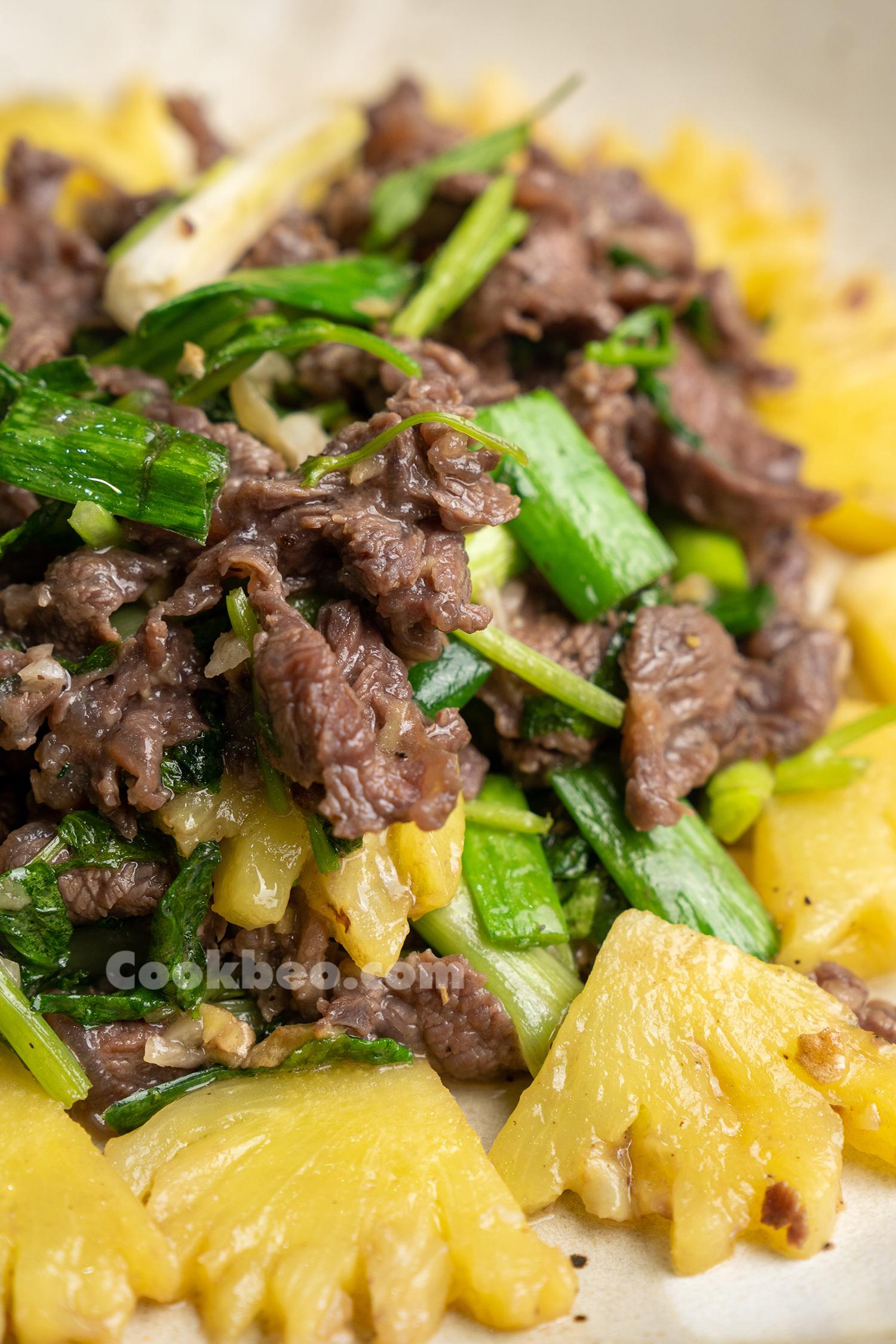 món thịt bò xào dứa ngon nhất